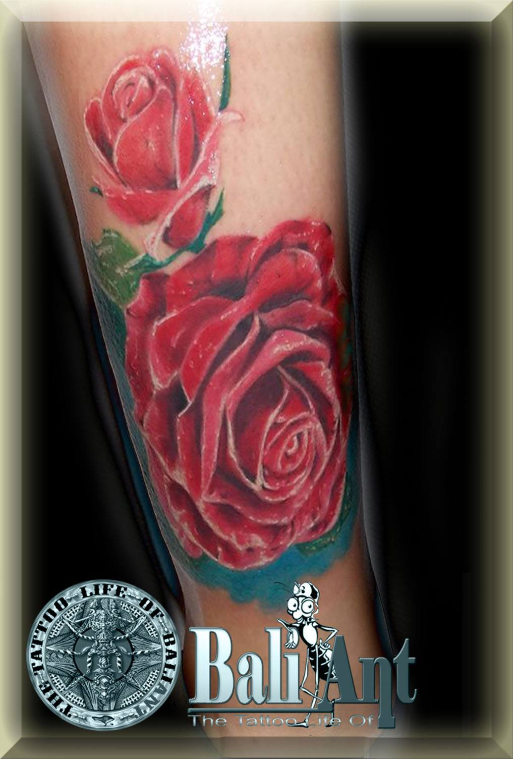Rose Tattoos done in Bali - Line Tattoos, Red Roses, Realistic Rose ...
