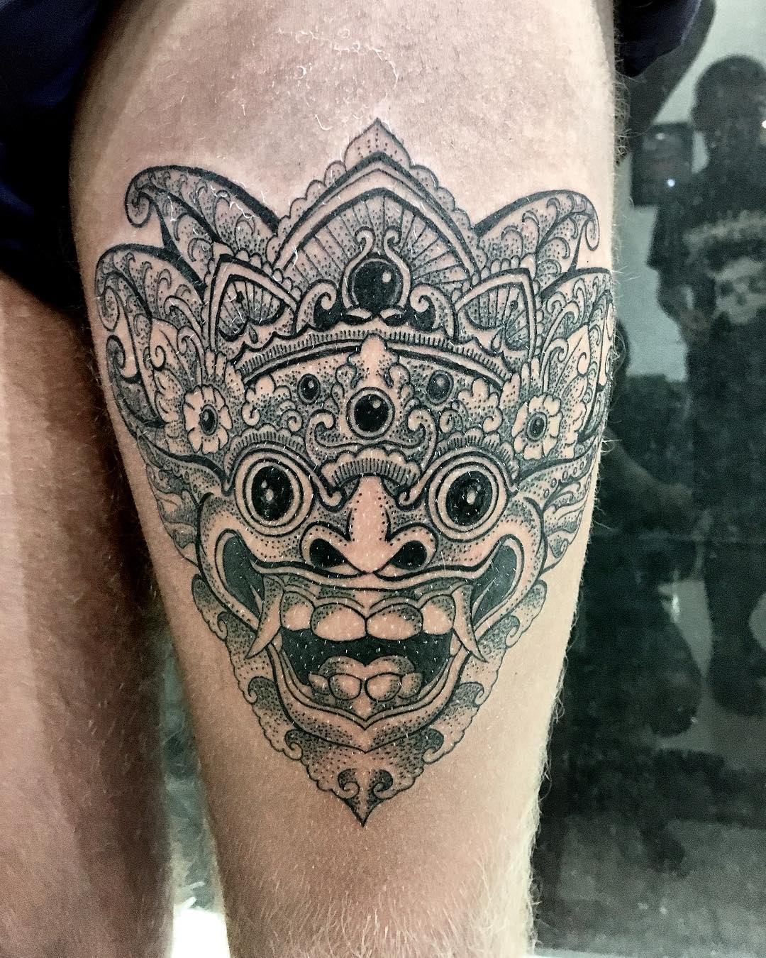 Barong tattoos designs history meaning tattlas bali tattoo guide
