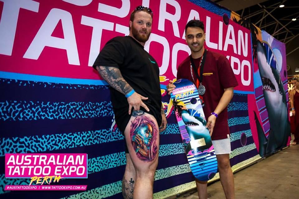 Khail Tattoer won Best Multi-Day Tattoo