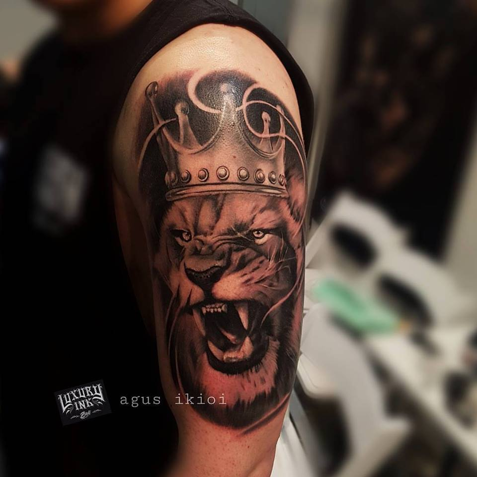 Tatouage King Lion