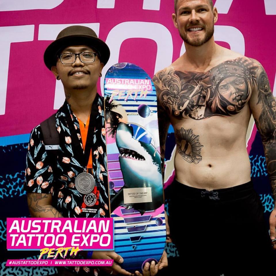 Perth Tattoo Expo Winner Best Tattoo of the Day UK Tattoo