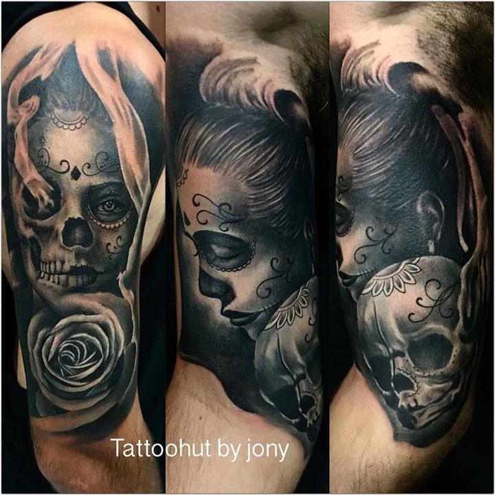 Dia De Los Muertos Woman Portrait Jony Tattoo Hut