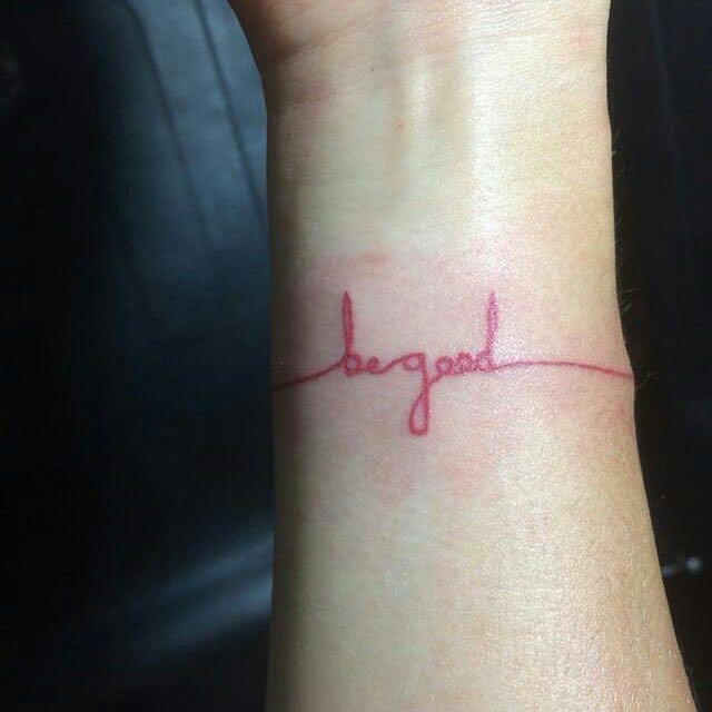 red line tattoo script