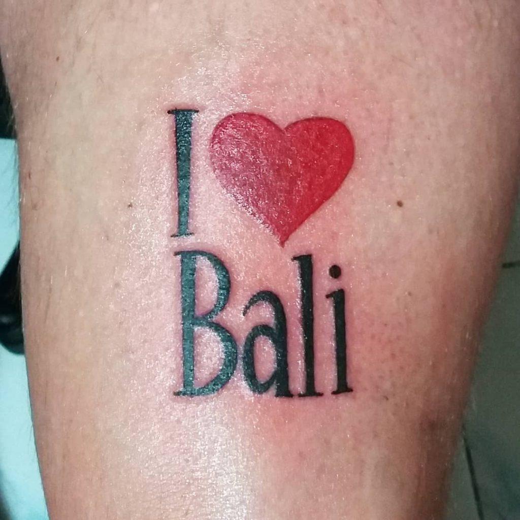 I heart Bali tattoo