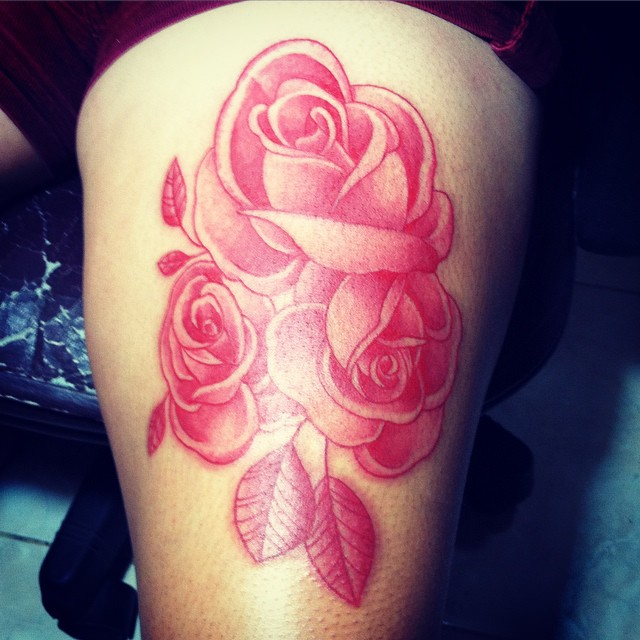 roses tattoo only red