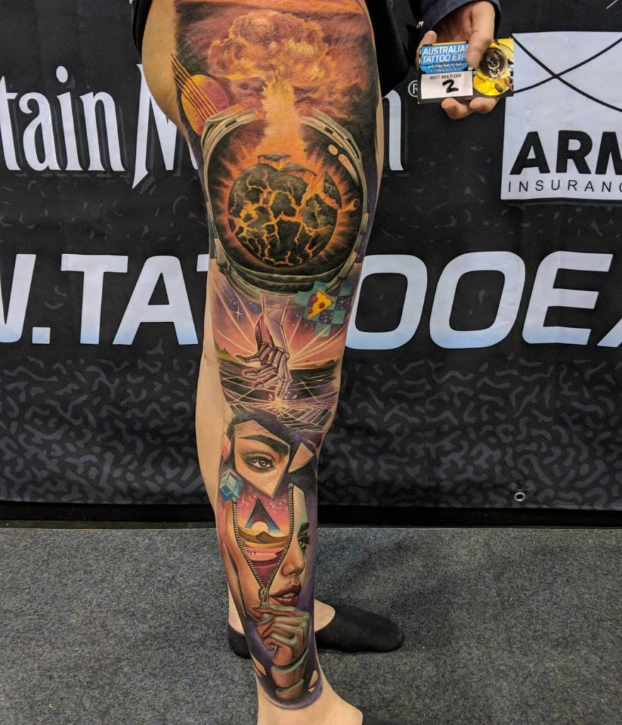 Australian Tattoo Expo 2018 Perth Tattoo of the Show Winner Ata Ata.Ink Tattlas