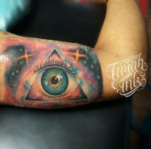 Psychadelic eye tattoo freehand by Turah Ink A.A Ngurah Pradnya Dinata