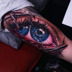 Surrealist eye tattoo by ata bali