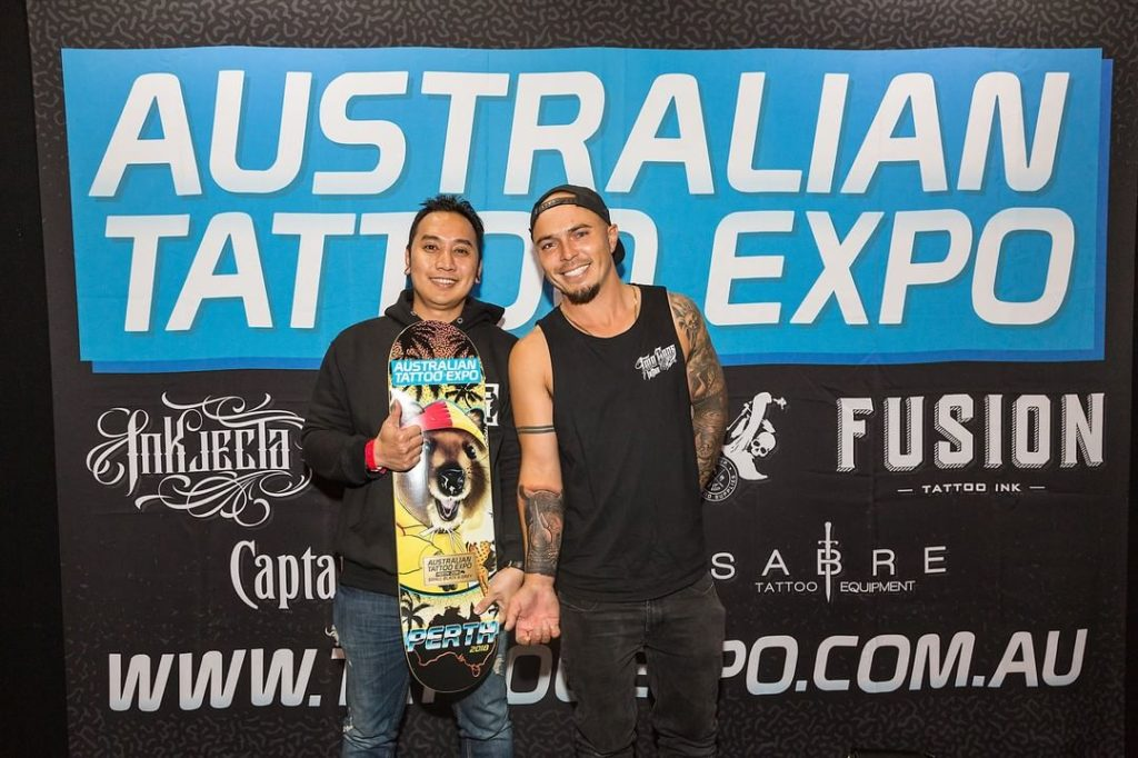Goper Ink wins best small black and grey Australian Tattoo Expo winners 2018 tattoo