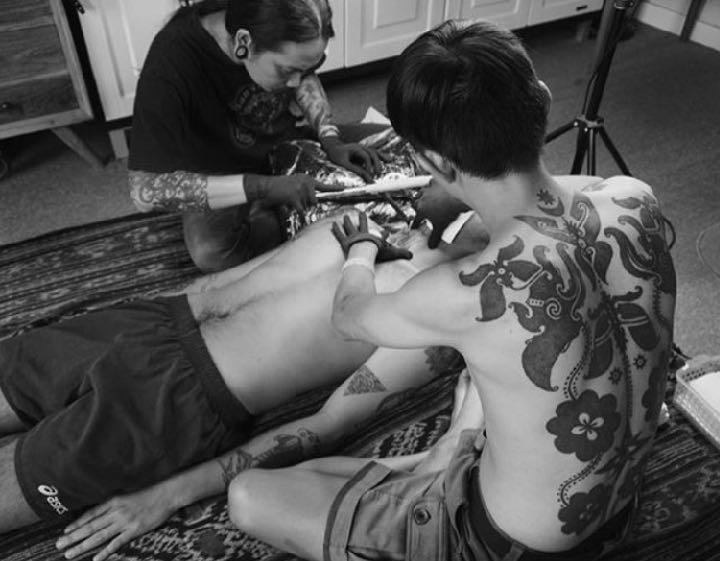 Pantang Iban Hand Tap Tattooing by Hends Dyak