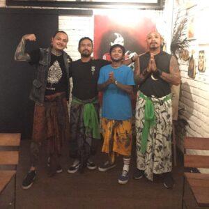 Canggu Tattoo Artists from left Gracka Works, NBD Tattoo Bali Studio Manager Andi Legob, Lils Ucha and Andy Besi