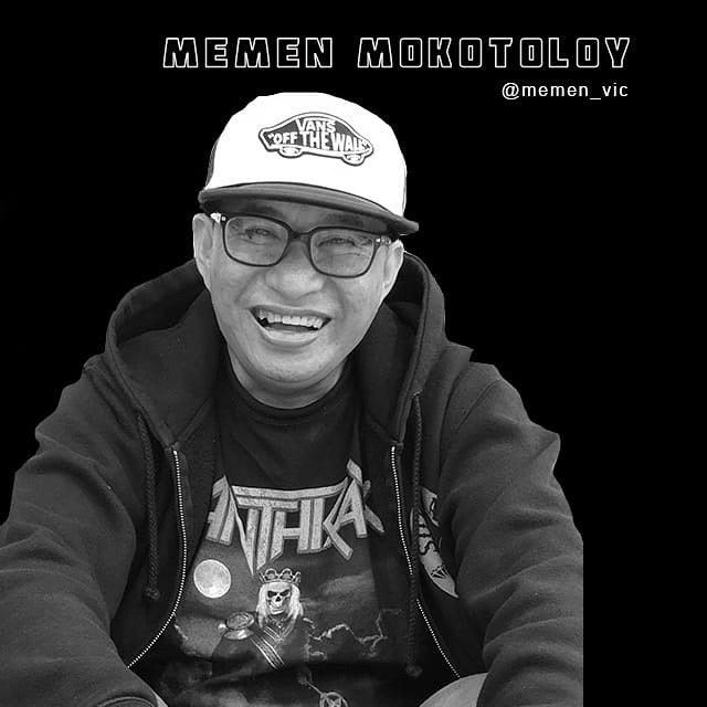 Black and White Portrait of Bali Tattoo Artist Memen Vic