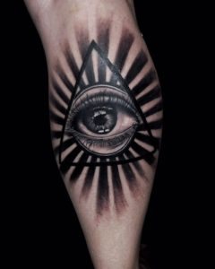Original eye tattoo by Ricky Sokai  / Diamond Dog Tattoo Kuta