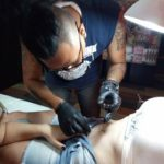 Belly button navel body piercing Bali by Pierce The Skin Art